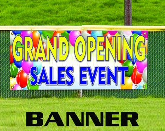 Grand Opening Sales Event Promotion Open Store Shop Business Banner Sign