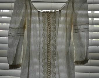 Victorian/ Edwardian custom made blouse