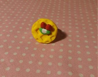 Strawberry and Kiwi Waffle ring