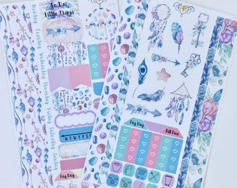 Boho dreamcatcher stickers, Weekly Planner Kit, feather Personal planner supplies, personal planner accessories, stickers, arrows