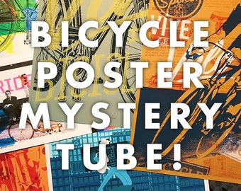 Bicycle Poster Mystery Tube Contains 3 Posters