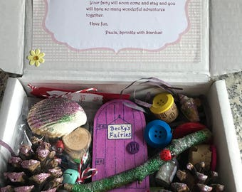 Fairy Garden Starter kit with personalised fairy letter