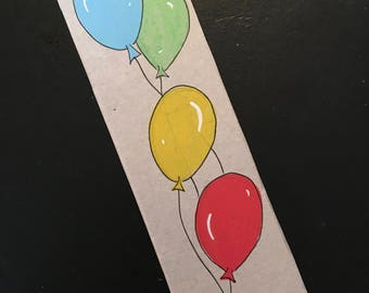 Bookmarks / balloons / birthday / recycling / Illustration