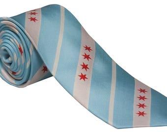 Chicago Flag Tie