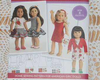New Simplicity American Girl 18' doll Clothes Pattern 8536