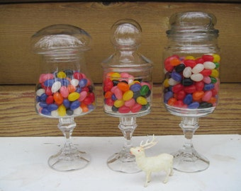 Upcycled Wedding Candy Buffet Candy Bar Apothecary Jars