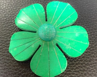Green wooden pin