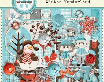 Digital Scrapbook Winter Wonderland Kit