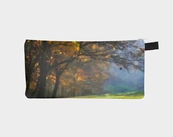 Autumn Pencil Case, Orange Pouch, Pencil Pouch, Make Up Bag, Fall Tree Pouch, Small Bag, Zipper Pouch, pencil bag, Cosmetic Bag, Small Pouch