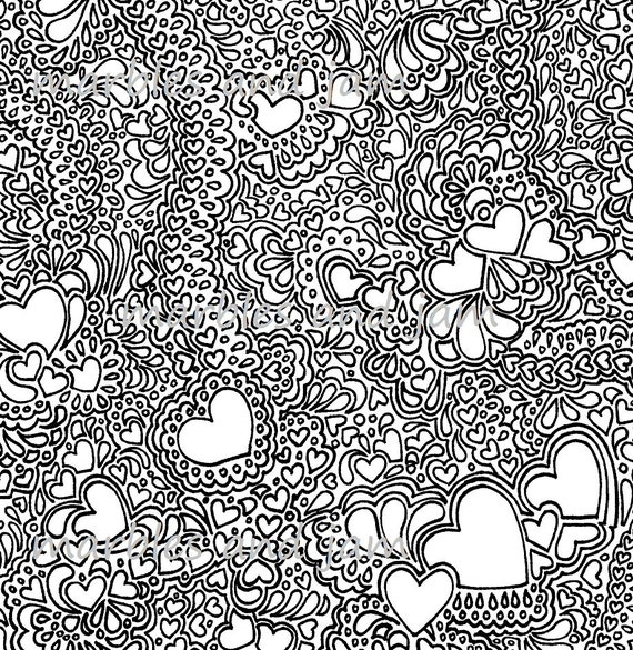 Hearts and more hearts printable