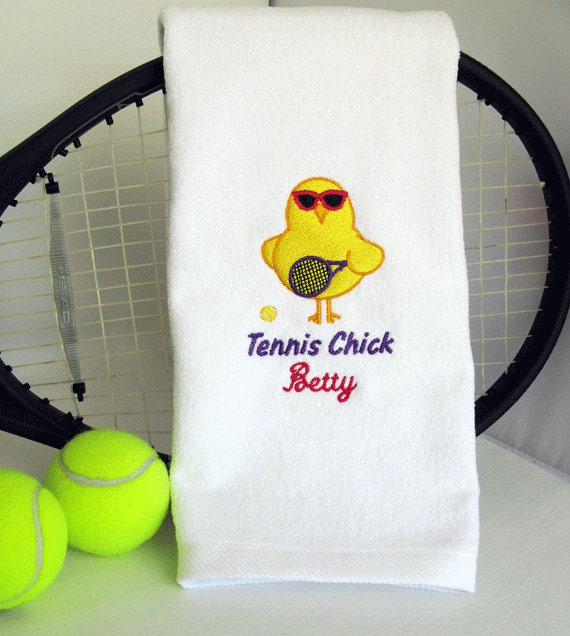 Tennis Gift Personalized Tennis Towel Tennis