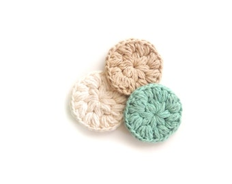Face Scrubby Cotton Crochet Face Scrubbies Bath Accessory Gifts for her Makeup Removers