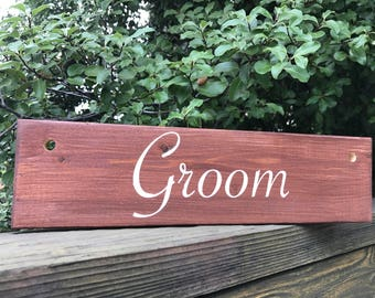 Groom Chair Sign - Wood - Rustic Wedding - Wedding Sign