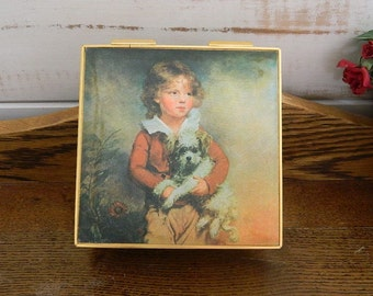 """Music Jewelry Box """"Master Simpson"""" Fabric Reproduction - A.W. Devis Print"""