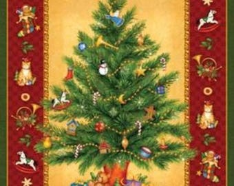 Old Time Christmas Panel by Northcott Fabrics