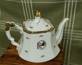 VINTAGE Royal Stafford REBEKAH Oddfellows Teapot. Cool!