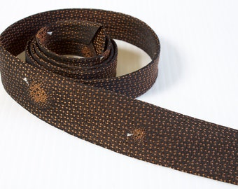 Vintage 1950s brown very skinny necktie by Wembley