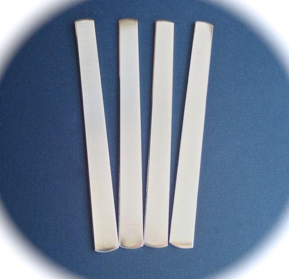 "6 - 20 Cuffs 1/2 x 6"" Cuff Blanks 14 Gauge Polished Food Safe Aluminum Metal Stamping Bracelet Blank Cuffs - Flat - Made in USA"