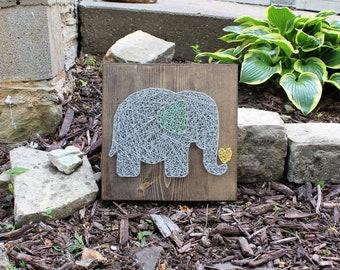 Elephant String Art Decor