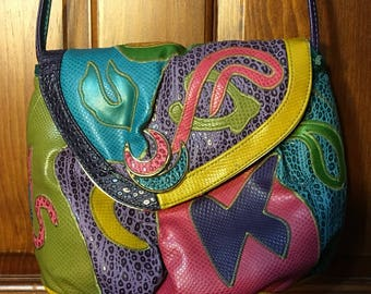 80's Nas Cross Body Colorful Abstract Purse