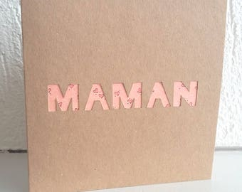 MOM card mother's day, love, handmade, custom map card card card and envelope, greeting card