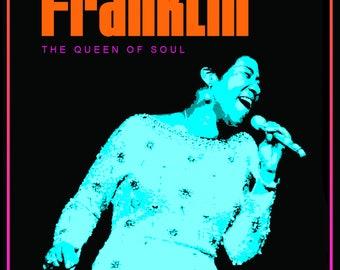 Aretha Franklin 1971 Concert Poster