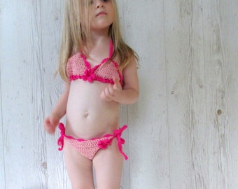 Crochet baby bikini,swimsuit,baby bikini,pink toddler bikini,baby swimsuit,cute swimsuit,summer baby,spring break,swimwear baby
