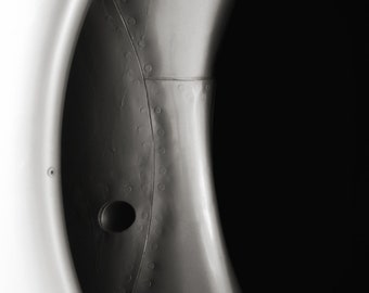 Jet Engine : plane photography black and white monochrome abstract industrial home decor 8x12 12x18 16x24