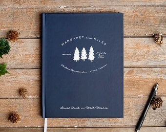 Guest House Guest Book Cabin Guestbook Visitor Log Housewarming Gift Vacation House Decor Memory Book Lake House Guestbook Sign in book navy