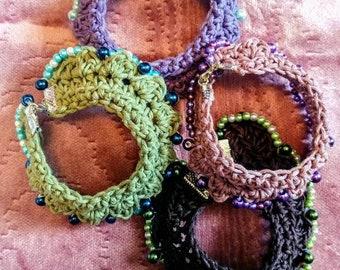 Handmade Crochet Cuff Braclet-Cuff bracelet-Bracelet