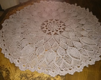 White 30plus inch pineapple table topper
