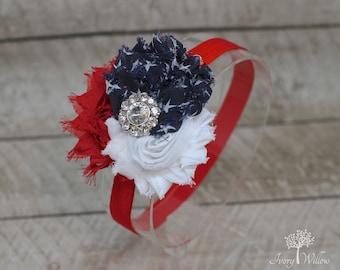 Independence Day Headband - 4th of July Headband - Fourth of July - Red White and Blue Headband - Baby Headband - Adult Headband - America