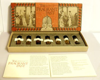 Vintage 1980s Recreated Ancient Perfume Collection The Fragrant Past: Perfumes of Cleopatra & Julius Caesar