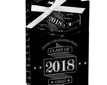 Graduation Favor Boxes - Personalized 2018 Graduation Party Supplies - Graduation Treat Box - Set of 12 Graduation Cheers Favor Boxes