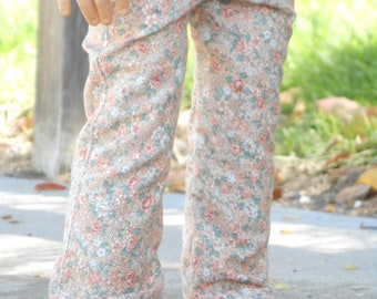 Pink Floral Pants/Jeans w/ Working Pockets for American Girl Dolls