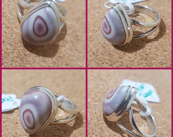 Porcelain Jasper SZ 6 925 Silver Ring