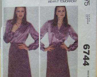 McCall's 6744 Wrap around skirt sewing pattern. Size LARGE. UNCUT