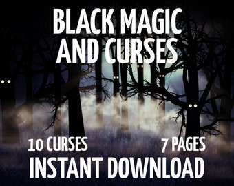 7 Book of Shadows Pages on Black Magic, Witchcraft, BOS Pages, Voodoo, Digital Witchcraft Instant Download Printable BOS Pages
