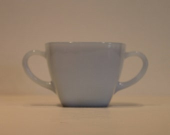Anchor Hocking's Fire King - Charm Pattern - Sugar Bowl in Azur-ite Blue