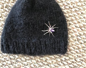 SALE/NEW!!!! Sparkling jeweled embroidered beanie/soft blend of wool/free shipping