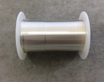 FULL SPOOL - 28 Gauge Beadsmith Brand Anti-Tarnish Silver Plated Copper Craft Wire - 40 Yards (120 Feet) - Great for Wire Wrapped Jewelry!