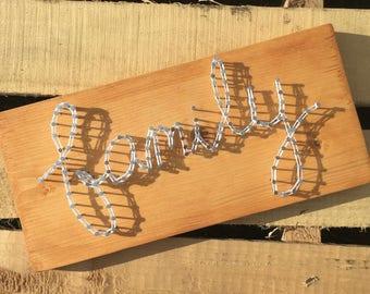 Custom Made Phrase String Art