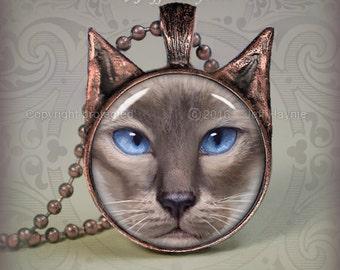 SI2 Oriental SIAMESE CAT Pendant