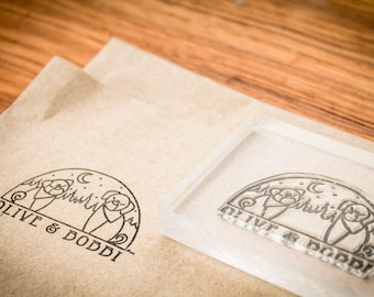 Custom Rubber Stamp - 2.75 Inches wide