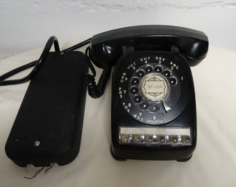 Vintage Automatic Electric Monophone Black Rotary Dial Telephone - FREE SHIPPING