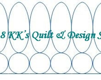 Exclamation Border - Longarm Digital Quilting Pattern  Edge to Edge Instant Download