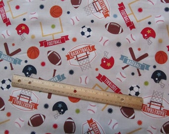 Beige/Tan Sports Theme/Game Day Riley Blake Cotton Fabric by the Yard
