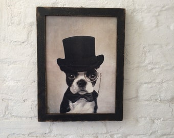 French Bulldog in Top Hat