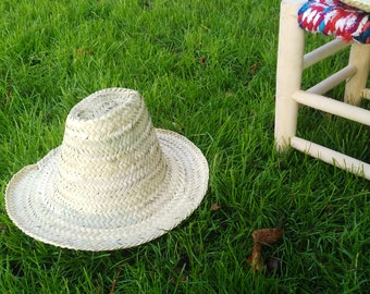 Natural - palm leaf Hat - Hat - straw hat