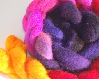 Hand Painted Wool Roving